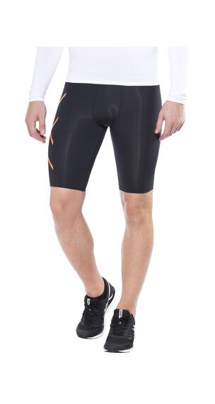 2XU TR2 Compression Shorts Men Black/sunburst orange